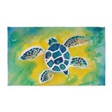 Sea turtle 3x5 Rugs