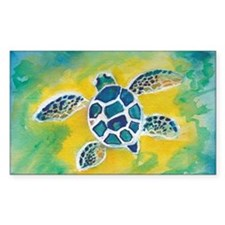 WATERCOLOR HONU DECAL Decal
