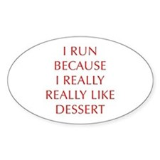 I-RUN-BECAUSE-I-REALLY-LIKE-DESSERT-OPT-RED Sticke
