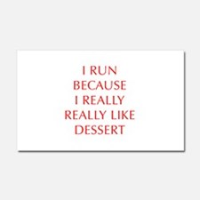 I-RUN-BECAUSE-I-REALLY-LIKE-DESSERT-OPT-RED Car Ma
