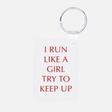 I-RUN-LIKE-A-GIRL-OPT-RED Keychains
