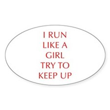 I-RUN-LIKE-A-GIRL-OPT-RED Decal