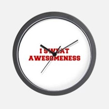 I-SWEAT-AWESOMENESS-FRESH-RED Wall Clock
