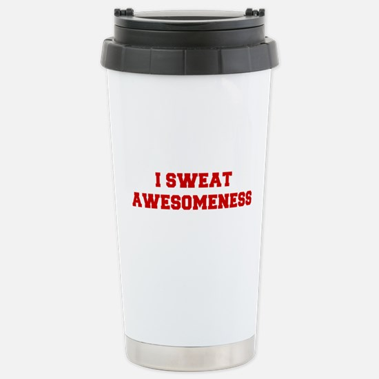 I-SWEAT-AWESOMENESS-FRESH-RED Travel Mug