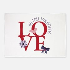 Be My Valentine 5'x7'Area Rug