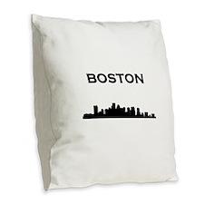 Boston Burlap Throw Pillow