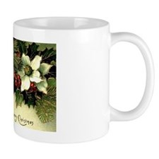 Vintage Christmas Poinsettias Mug