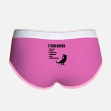 T-Rex Hates Bullet List Women's Boy Brief