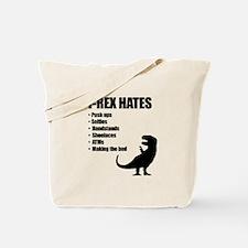 T-Rex Hates Bullet List Tote Bag