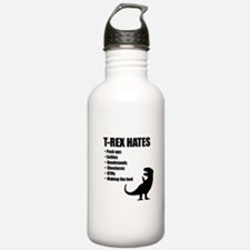 T-Rex Hates Bullet List Sports Water Bottle