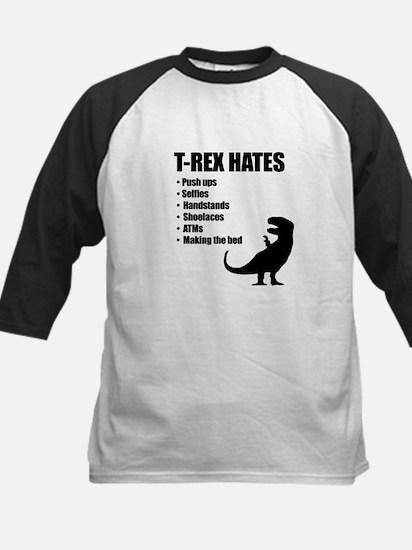 T-Rex Hates Bullet List Baseball Jersey
