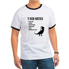 T-Rex Hates Bullet List T-Shirt