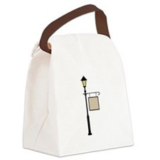 Street Lamp Canvas Lunch Bag