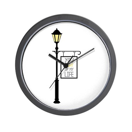 You Light Up My Life Wall Clock By Embroidery6