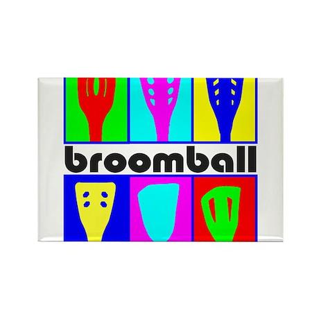 BroomballHeads_black Magnets