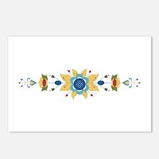 Scandinavian Floral Border Postcards (Package of 8