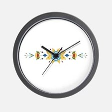 Scandinavian Floral Border Wall Clock