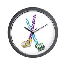 Party Blowers Wall Clock