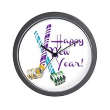 Happy New Year! Wall Clock