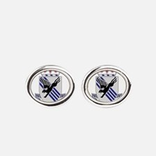 505th Airborne Infantry Regiment.png Oval Cufflink