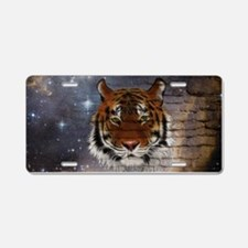 Abstract Tiger Aluminum License Plate