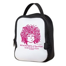 Curly Haired Girl Psalm 18:46 Neoprene Lunch Bag
