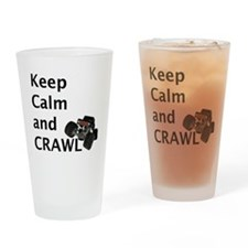 Keep calm and crawl for light t Drinking Glass
