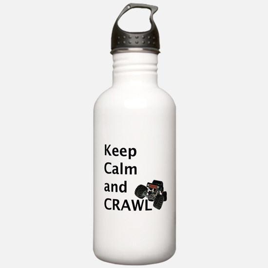 Keep calm and crawl for light t Water Bottle