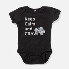 Keep calm and crawl for light t Baby Bodysuit