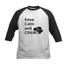 Keep calm and crawl for light t Baseball Jersey