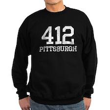 Distressed Pittsburgh 412 Sweatshirt