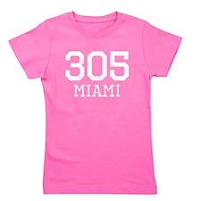 Distressed Miami 305 Girl's Tee