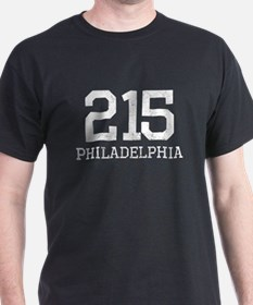 Distressed Philadelphia 215 T-Shirt