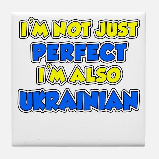 Not Just Perfect Ukrainian Tile Coaster