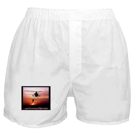 Good Morning Afghanistan Boxer Shorts