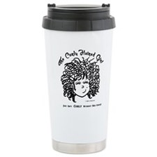 The Curly Haired Girl Travel Mug