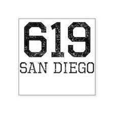 Distressed San Diego 619 Sticker