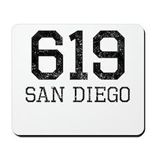 Distressed San Diego 619 Mousepad