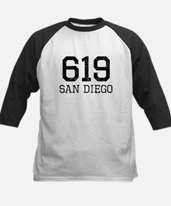 Distressed San Diego 619 Baseball Jersey