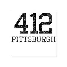 Distressed Pittsburgh 412 Sticker