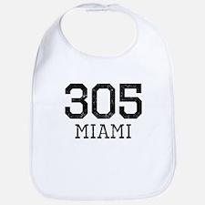 Distressed Miami 305 Bib