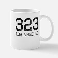 Distressed Los Angeles 323 Mugs