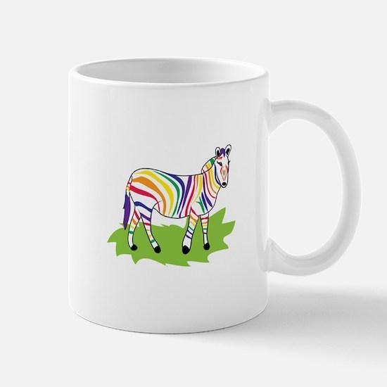 Rainbow Zebra Mugs