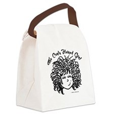 The Curly Haired Girl Canvas Lunch Bag