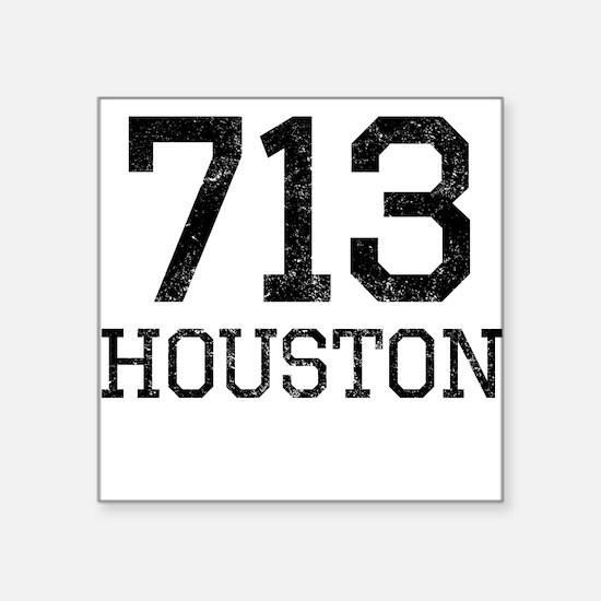 Distressed Houston 713 Sticker