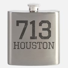 Distressed Houston 713 Flask