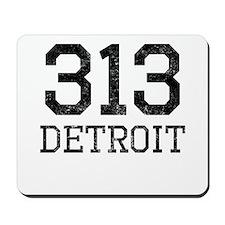 Distressed Detroit 313 Mousepad