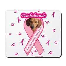 Dachshunds Against Breast Cancer Mousepad