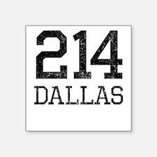 Distressed Dallas 214 Sticker