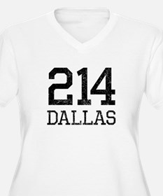 Distressed Dallas 214 Plus Size T-Shirt